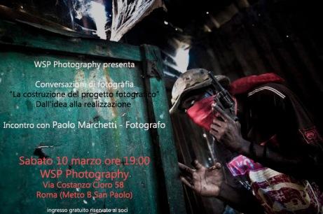 Incontro con Paolo Marchetti 10 marzo @ WSP Photography