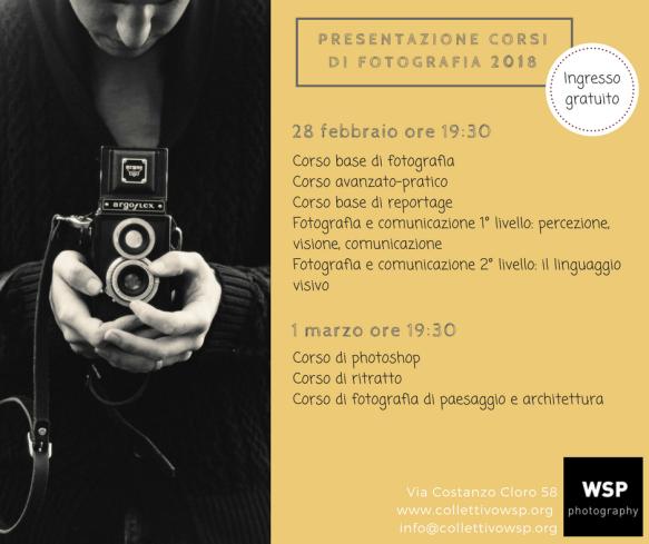 presentazione corsi di fotografia roma