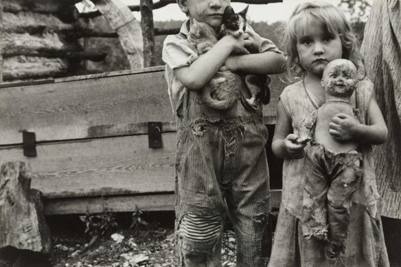 Ben Shahn Children of Destitute Mountaineer, Arkansas (1935)